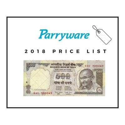 parryware price list