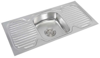 anupam kitchen sink single bowl with double drain board design
