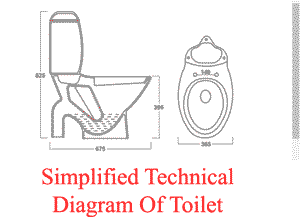 technical diagram toilet model