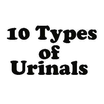 types of urinals design material